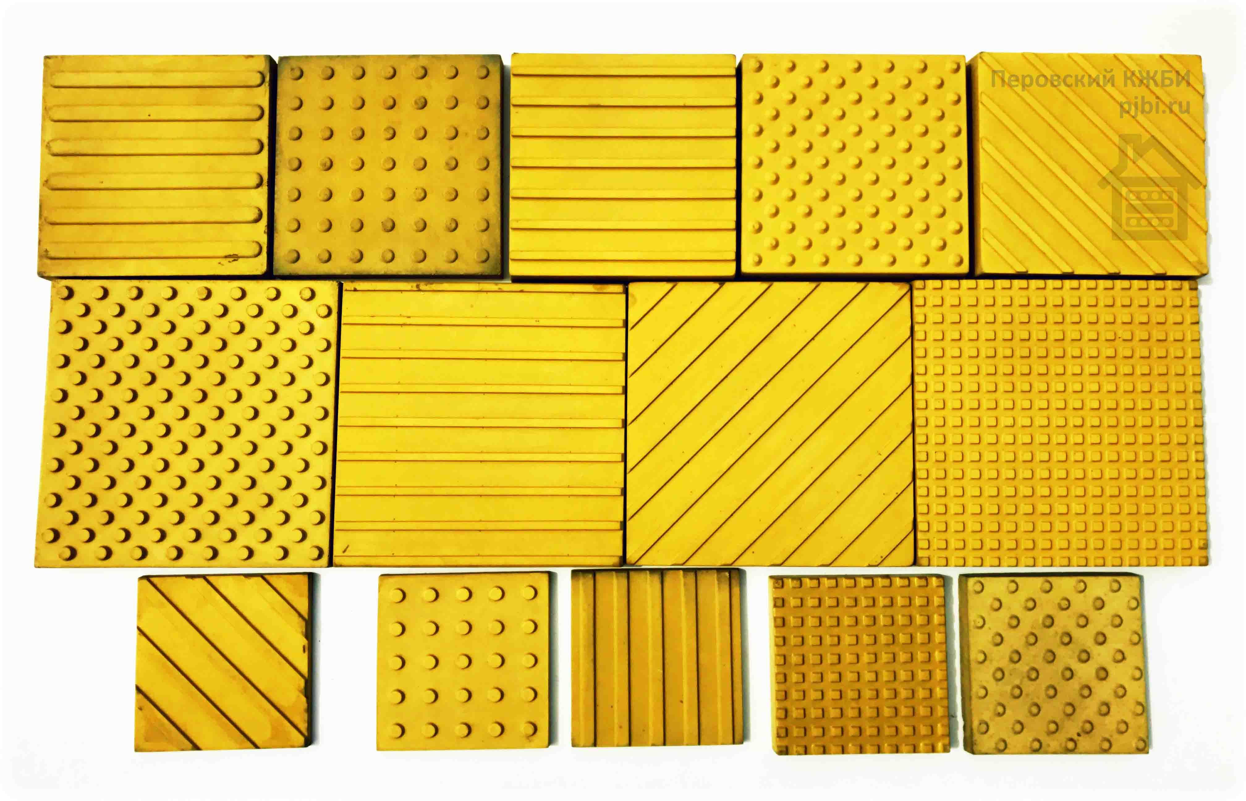 Бетонная тактильная плитка размеры 500х500, 400х400, 300х300 мм.